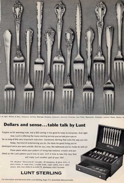 Lunt Sterling Silver Dinnerware Chest (1966)