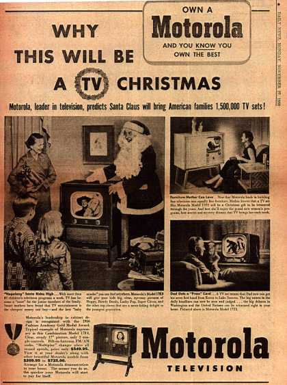 Motorola's Television – Why This Will Be A TV Christmas (1950)