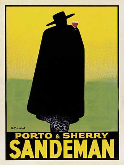 Porto and Sherry Sandeman by Georges Massiot (1931)