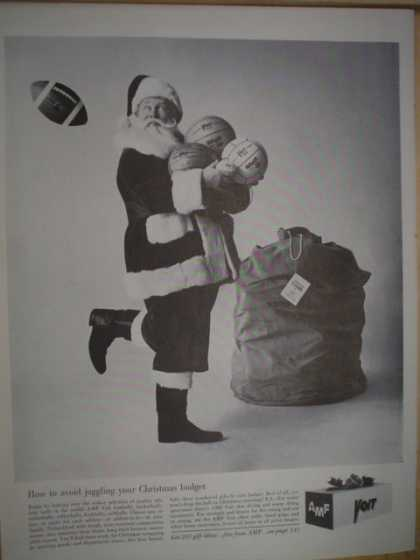 AMF Christmas gift idea ads Voit, Roadmaster, Bowling, more (1961)