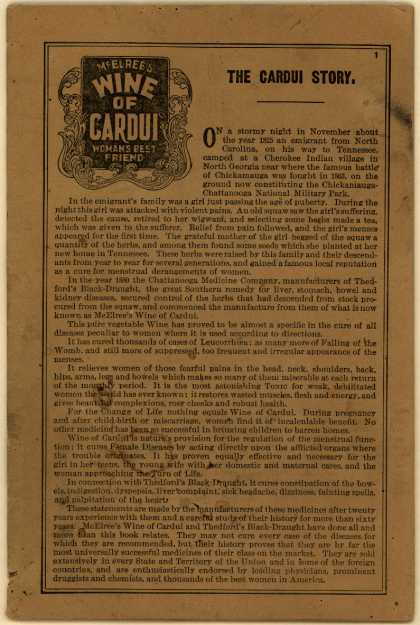 Chattanooga Medical Co.'s Cardui Wine (Woman's Best Friend) – The Cardui Story