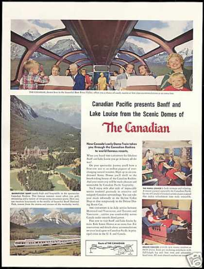 Canadian Dome Train Banff Bow River (1956)