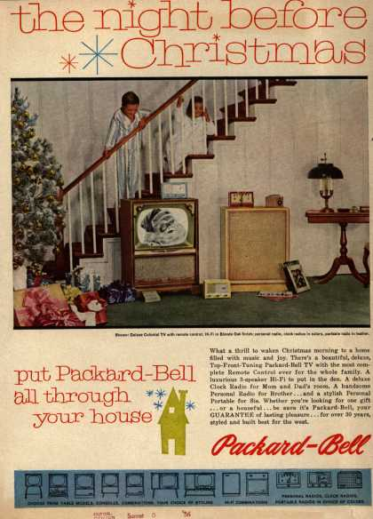 Packard-Bell's Television, Radios – the night before Christmas put Packard-Bell all through your house (1956)