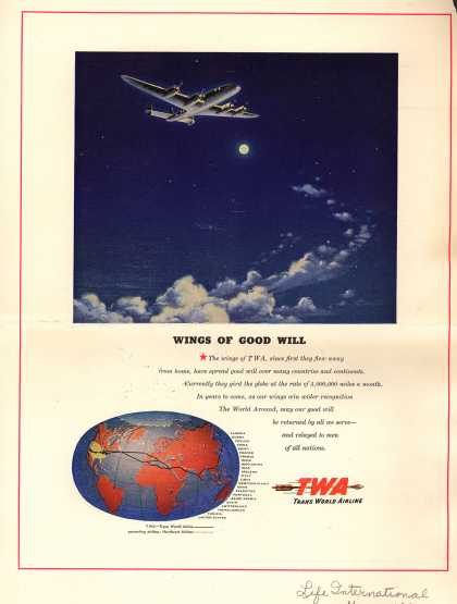 Trans World Airline's TWA airlines – Wings Of Good Will (1947)