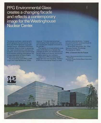 '73 Westinghouse Nuclear Center Pittsburgh PPG Photo (1973)