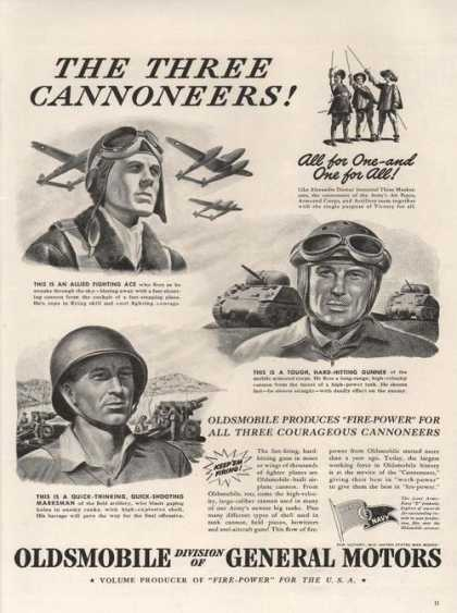 Oldsmobile Fire Power for the Military (1942)