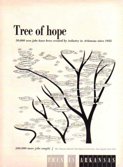 This Is Arkansas Travel Tree of Hope (1962)