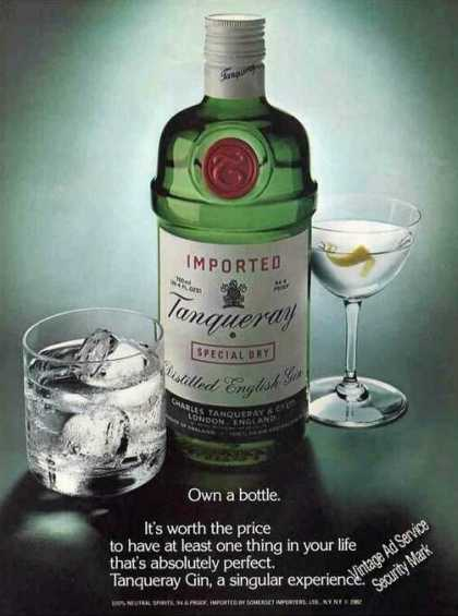"""Tanqueray Gin """"It's Worth the Price"""" (1983)"""