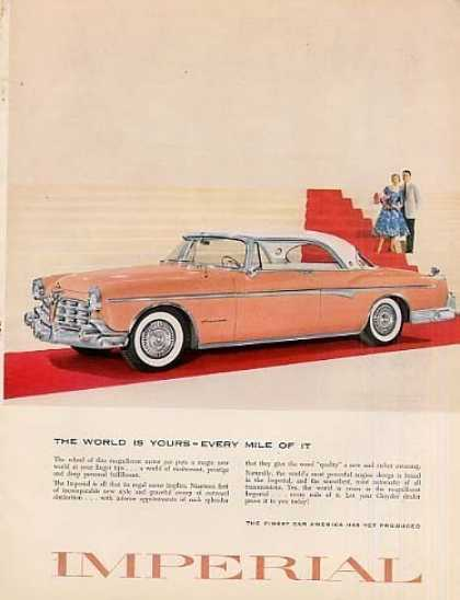 """Chrysler Imperial Car Ad """"The World Is Yours... (1955)"""