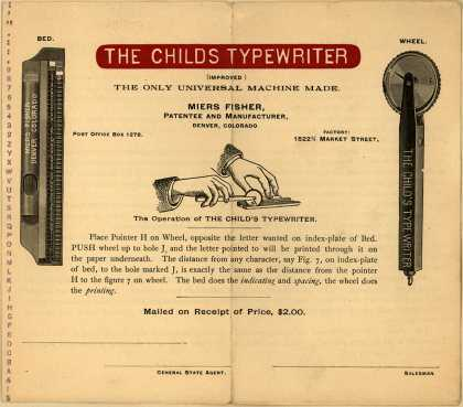 Miers Fisher's Typewriters – Child's – The Child's Typewriter