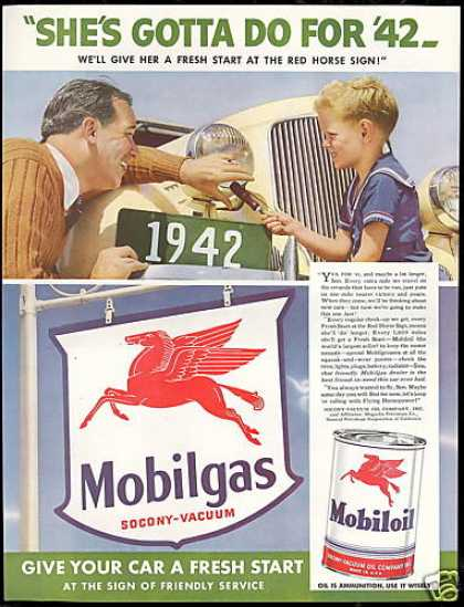 Mobilgas Oil WWII Strategy Make Cars Last (1942)