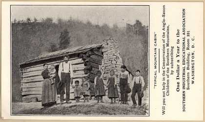 """Southern Industrial Education Assoc.'s Industrial Education – """"Typical Mountain Cabin"""""""