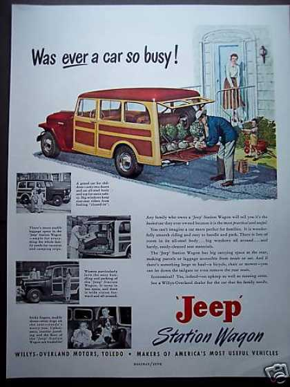 Jeep Station Wagon Willys Overland Car (1949)